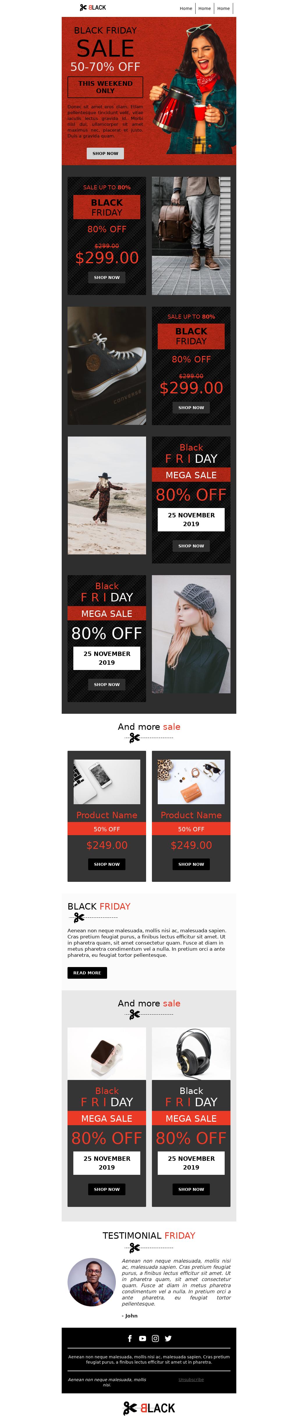 Black Friday Webshop Sale Promo