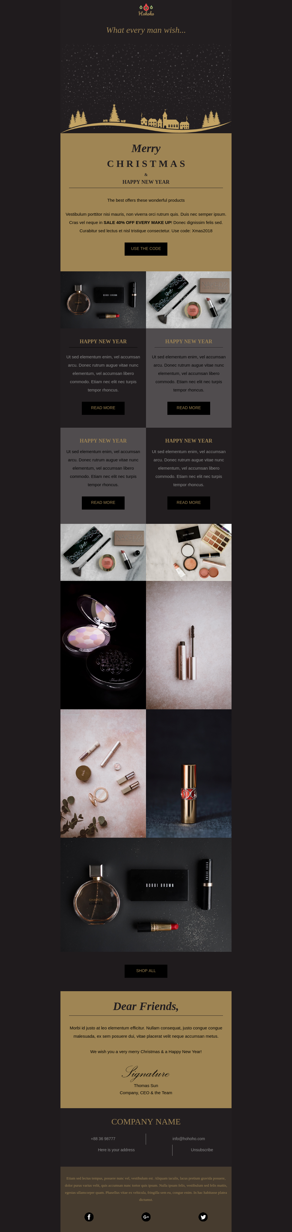 Fashion And Beauty Ecommerce Christmas Template