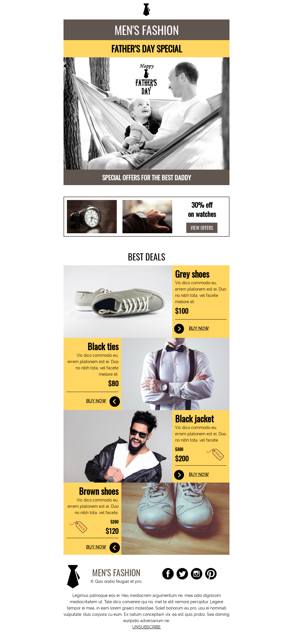 Father's day template for e-commerce