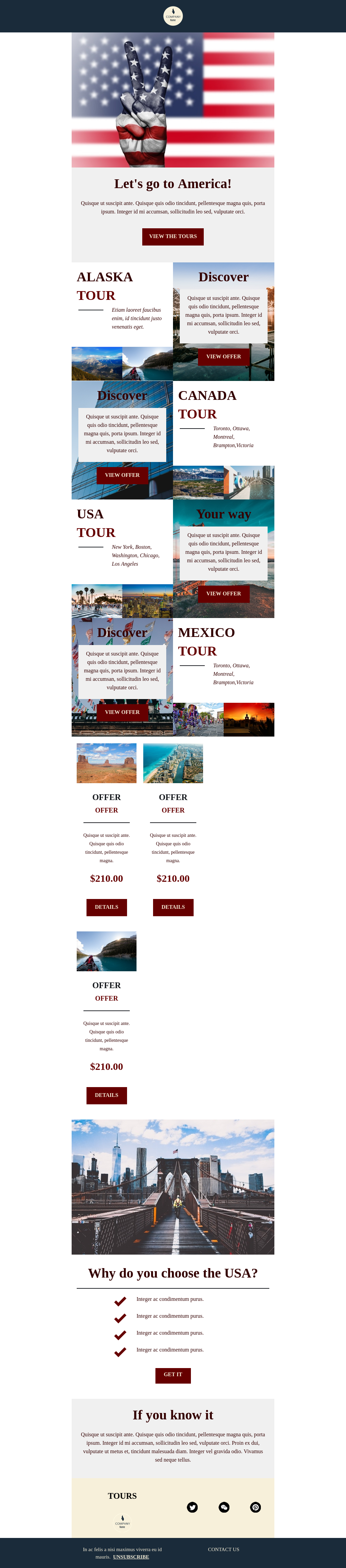Let's Go to America Promotional Travel Template