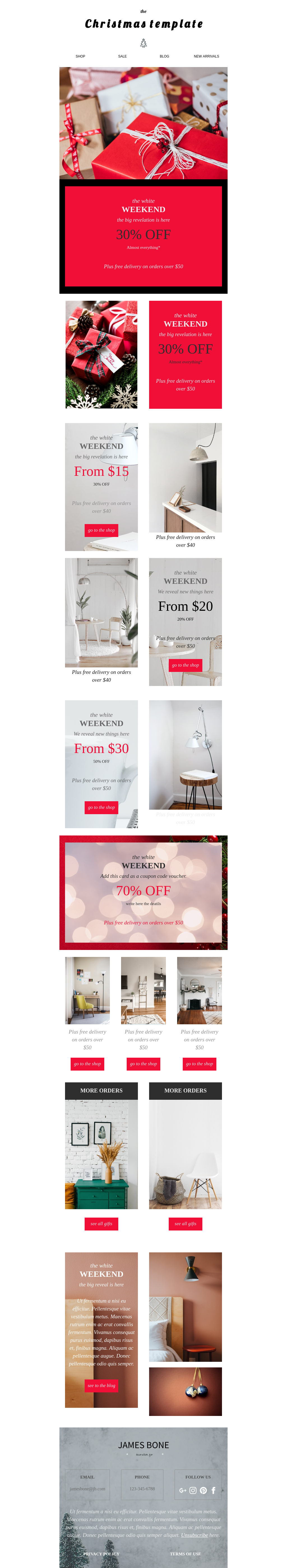Christmas Ecommerce Email Template