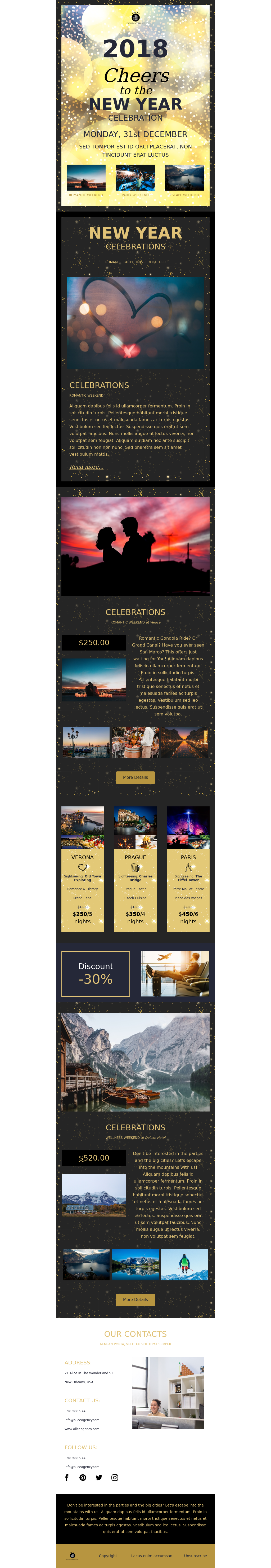 New Year's Eve Email Campaign Template