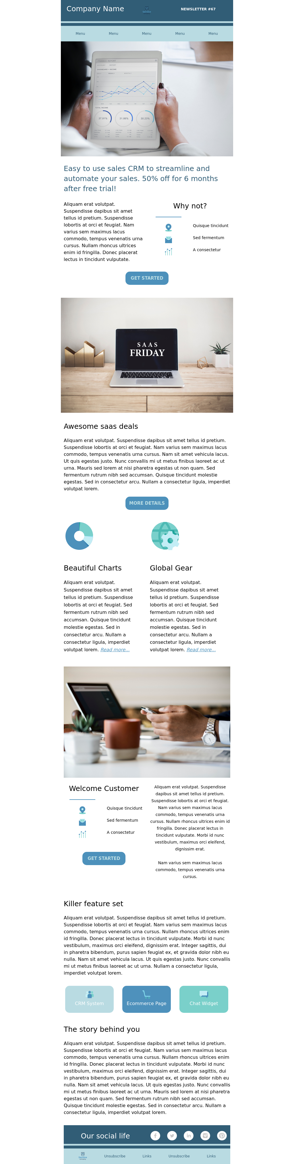 Gray and Blue Business Newsletter