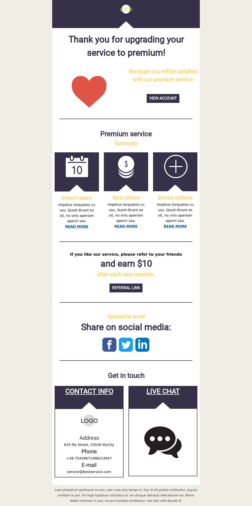 Thank you template suitable for Saas companies